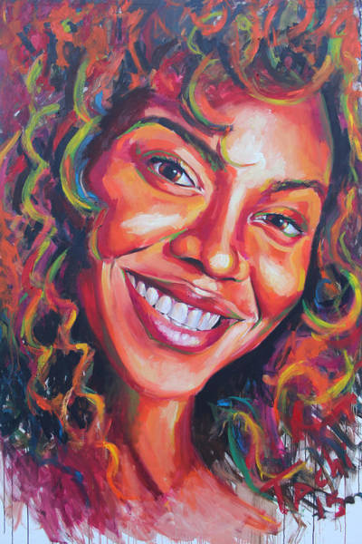 Child Actress Painting - Beyonce by Tachi Pintor