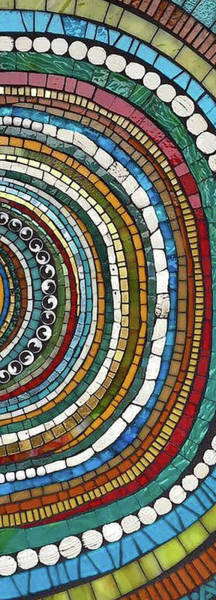 Mosaic Mixed Media - Beyond The Center  by Anne Marie Price