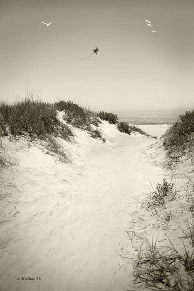 Flying A Kite Photograph - Beyond The Dunes by Brian Wallace