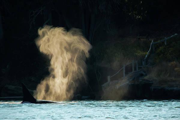 Photograph - Beyond The Mist - Wildlife Art by Jordan Blackstone