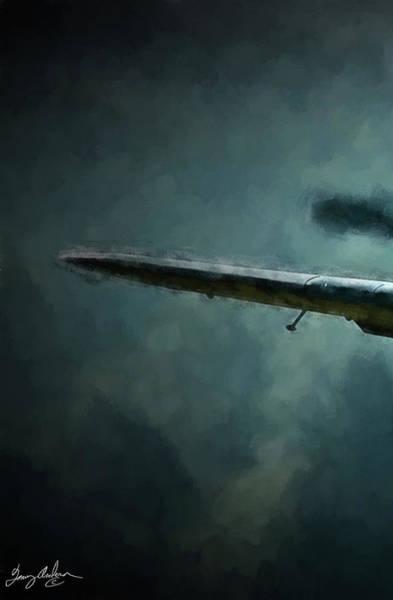 Wall Art - Digital Art - Bf-109 Intercept In Oil Triptych No 1 by Tommy Anderson
