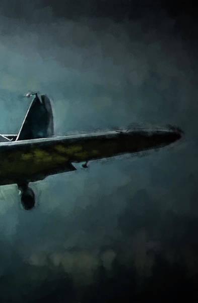 Wall Art - Digital Art - Bf-109 Intercept In Oil Triptych No 3 by Tommy Anderson