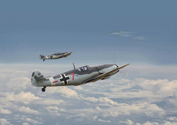 Flying Fortress Photograph - Bf109-g - Honour The Threat by Pat Speirs