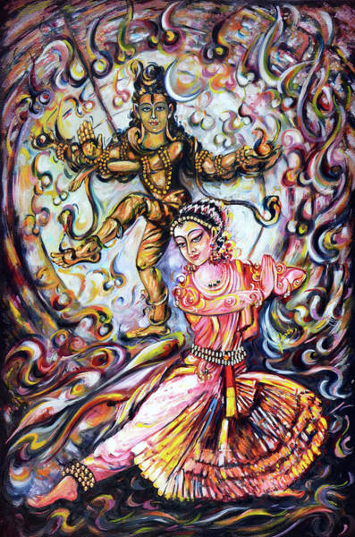 Wall Art - Painting - Bharatnatyam Dancer  by Harsh Malik