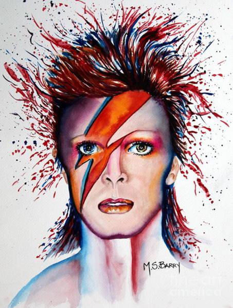 Painting - Bi Bi Bowie by Maria Barry