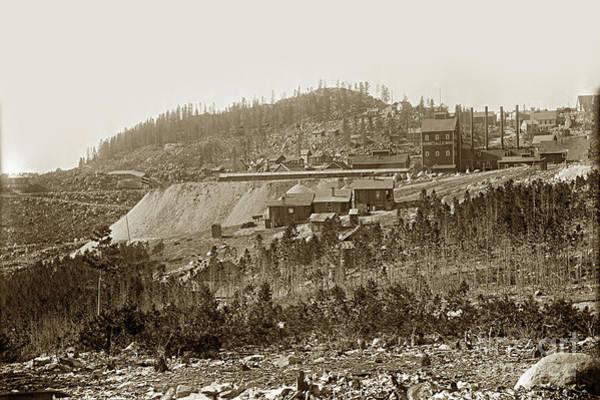 Photograph - Bi-metallic Mine - Granite, Montana Circa 1890 by California Views Archives Mr Pat Hathaway Archives
