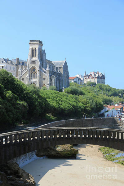 Photograph - Biarritz Cathedral With Beach Bridge by Carol Groenen