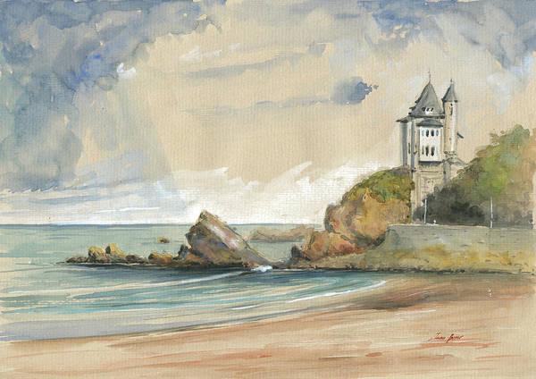Atlantic Painting - Biarritz by Juan Bosco