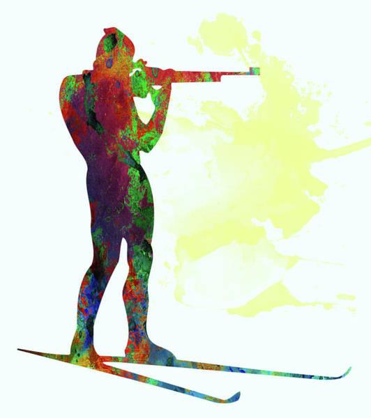 Sportsman Digital Art - Biathlon by Elena Kosvincheva