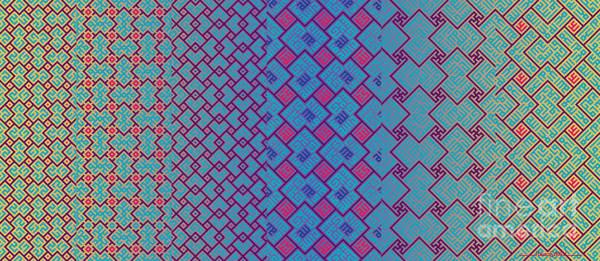 Digital Art - Bibi Khanum Ds Patterns Mug No.3 by Mamoun Sakkal