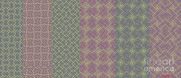 Digital Art - Bibi Khanum Ds Patterns Mug No.9 by Mamoun Sakkal