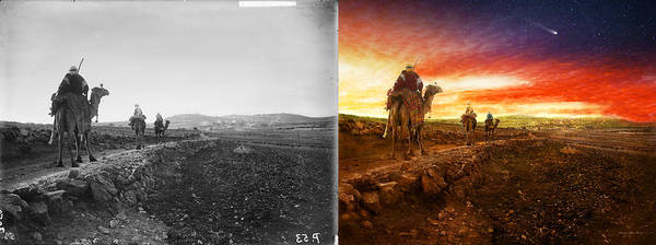Photograph - Bible - Wise Men - The Magi Arrive 1920 - Side By Side by Mike Savad