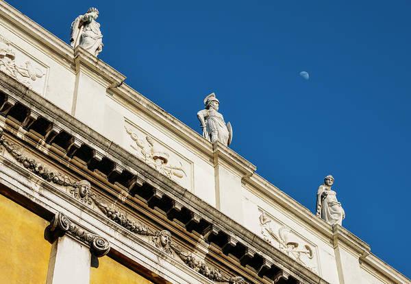 Photograph - Biblioteca Marciana Statues, Venice by Alexandre Rotenberg
