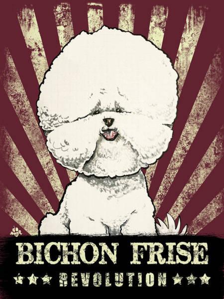Bichon Frise Revolution Art Print