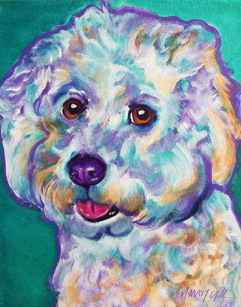 Wall Art - Painting - Bichon Frise - Ruben by Alicia VanNoy Call