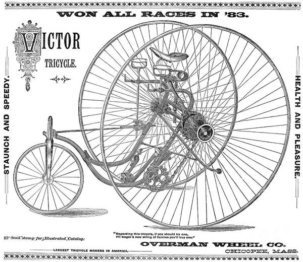 Wall Art - Photograph - Bicycle, 1884 by Granger