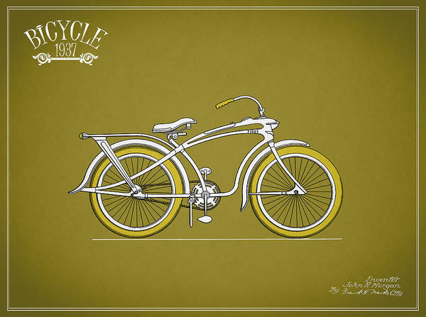 Bicycle Photograph - Bicycle 1937 by Mark Rogan