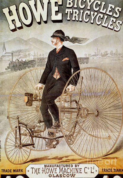 Photograph - Bicycle Advertisement by Granger