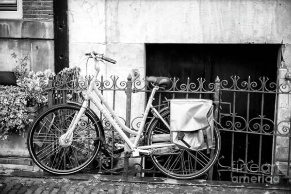 Photograph - Bicycle Bag In Amsterdam by John Rizzuto