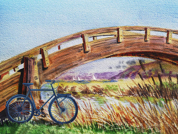 Painting - Bicycle Bridge Marina  by Irina Sztukowski