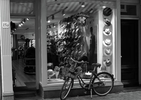 Photograph - Bicycle By Store Front by Aidan Moran