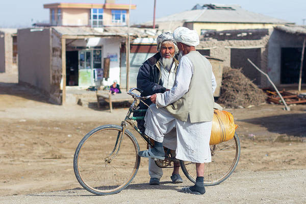 Photograph - Bicycle Conversation by SR Green