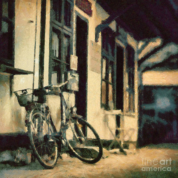 Painting - Bicycle by Dimitar Hristov