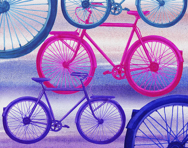 Painting - Bicycle Dream II by Irina Sztukowski