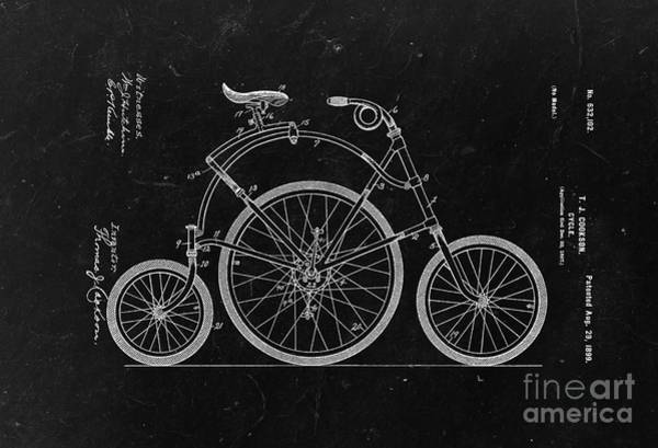 Wall Art - Photograph - Bicycle From 1899 - Black by Delphimages Photo Creations
