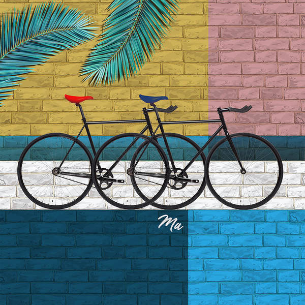 Wall Art - Digital Art - Bicycle In Composition by Mark Ashkenazi