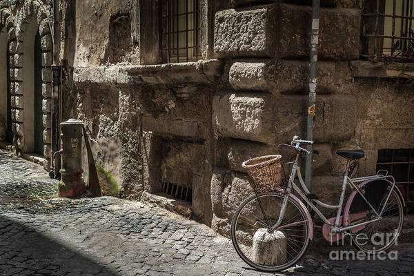 Bicycle In Rome, Italy Art Print