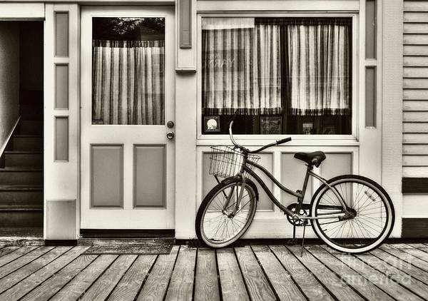 Photograph - Bicycle In Skagway Sepia Tone by Mel Steinhauer