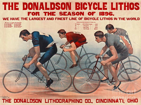 Wall Art - Photograph - Bicycle Lithos Ad 1896 by Padre Art