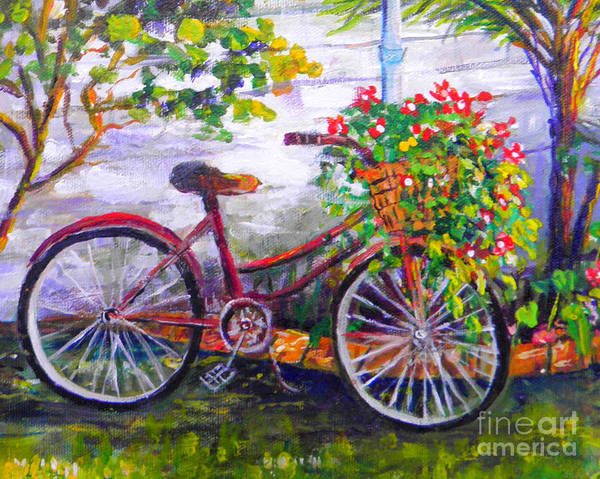 Wall Art - Painting - Bicycle by Lou Ann Bagnall