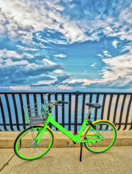 Photograph - Bicycle On The Bayshore Walkway by Gary Slawsky