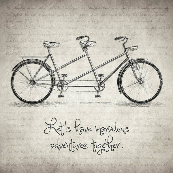 Drawing - Bicycle Quote by Zapista Zapista