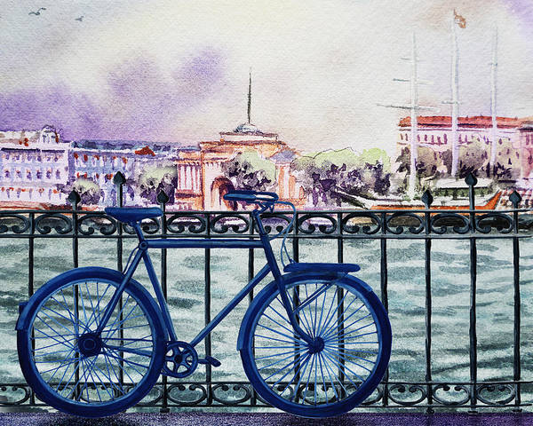 Painting - Bicycle Ride To The City by Irina Sztukowski