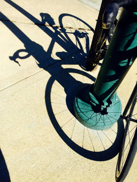 Wall Art - Photograph - Bicycle Shadow by Nancy Merkle