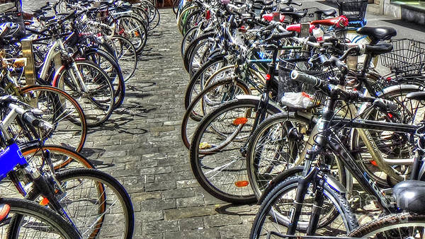 Photograph - Bicycles by LR Photography