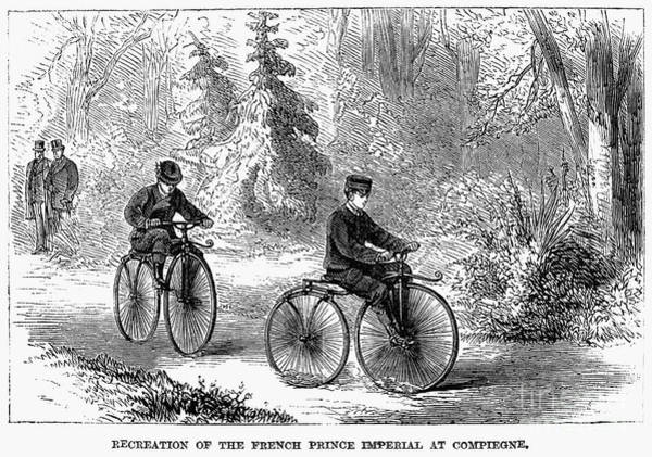 Photograph - Bicycles: France, 1868 by Granger