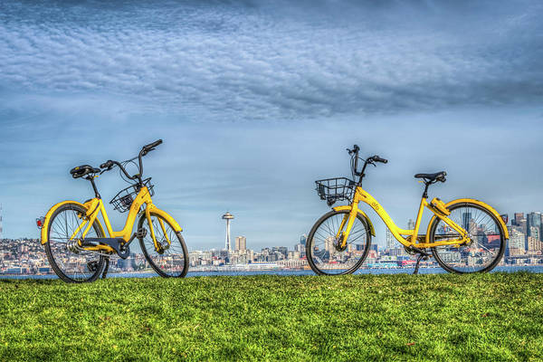 Wall Art - Photograph - Bicycles On Alki Beach by Spencer McDonald