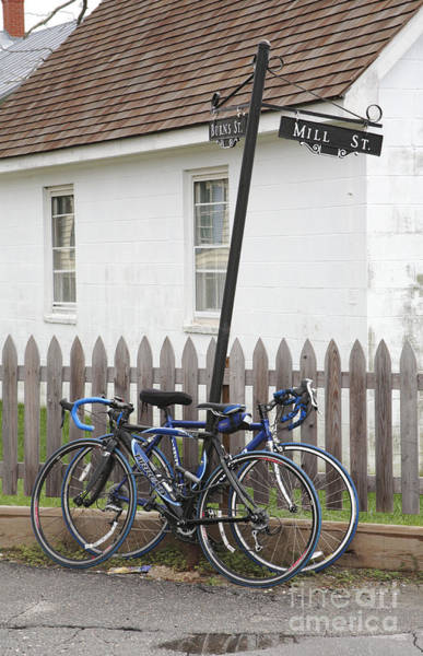 Wall Art - Photograph - Bicycles On The Street In Saint Michaels Maryland by William Kuta