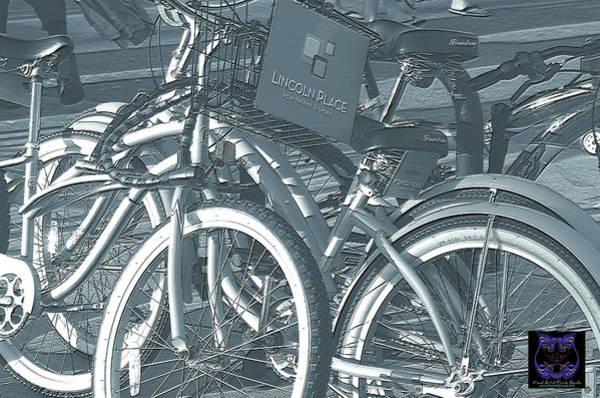 Digital Art - Bicycles by Visual Artist Frank Bonilla