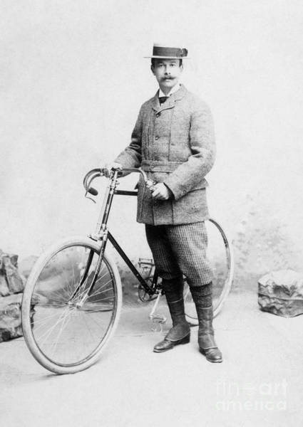 Photograph - Bicycling, C1885 by Granger
