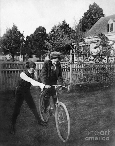 Photograph - Bicycling, Early 1900s by Granger