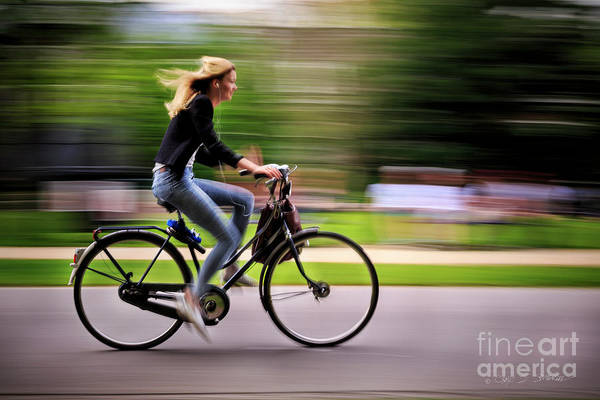 Photograph - Bicycling Woman by Craig J Satterlee