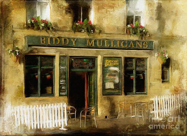Digital Art - Biddy Mulligans Pub by Lois Bryan
