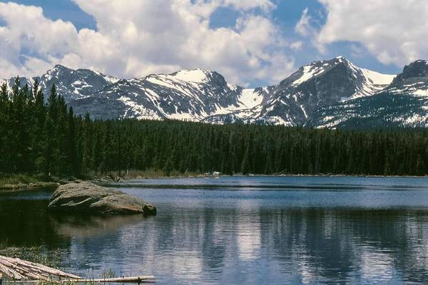 Photograph - Bierstadt Lake Hallett And Otis Peaks Rocky  Mountain National Park by NaturesPix