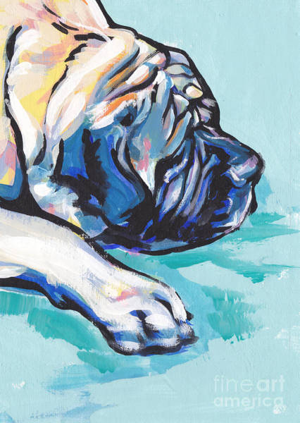 Mastiff Painting - Big And Sweet by Lea S