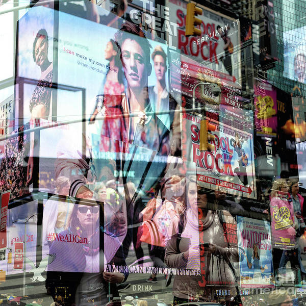 Photograph - Big Apple Double Exposure by John Rizzuto